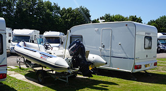Rigid Inflateable Boat (RIB) and Caravan